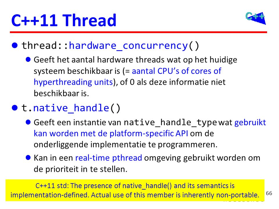 C++11 Synchronization Mutexen Locks Conditionele variabelen mutex