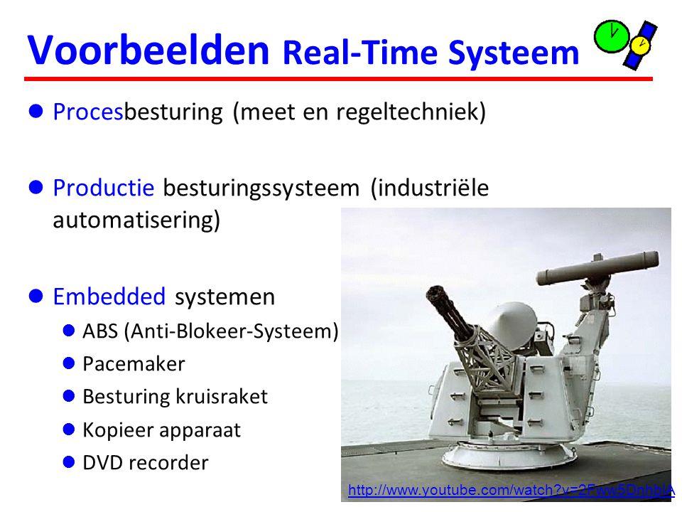 Karakteristieken Real-Time Systeem