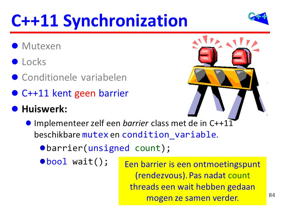 C++11 concurrency Memory model Threads Synchronisatie