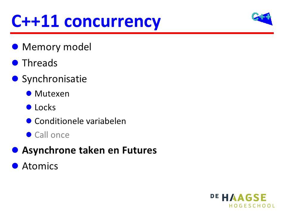 async en future Bedoeld om eenvoudig gebruik van concurrency mogelijk te maken.