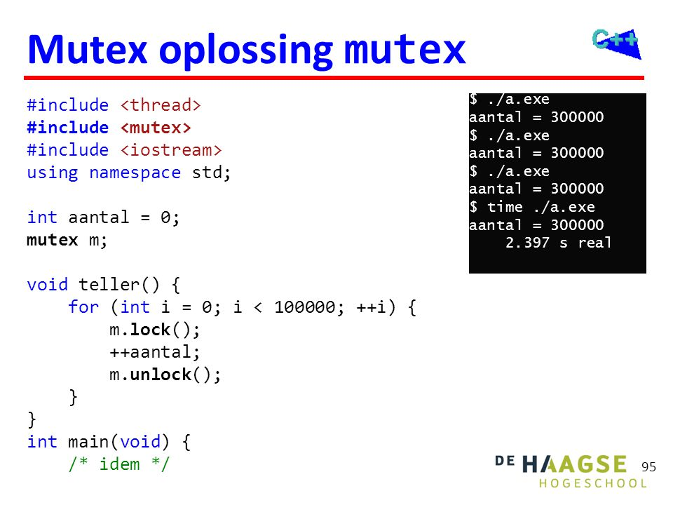 Mutex oplossing lock_guard