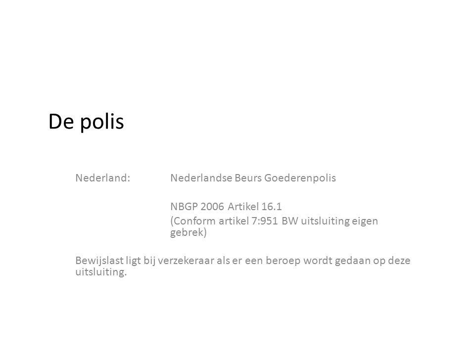 De polis Nederland: Nederlandse Beurs Goederenpolis