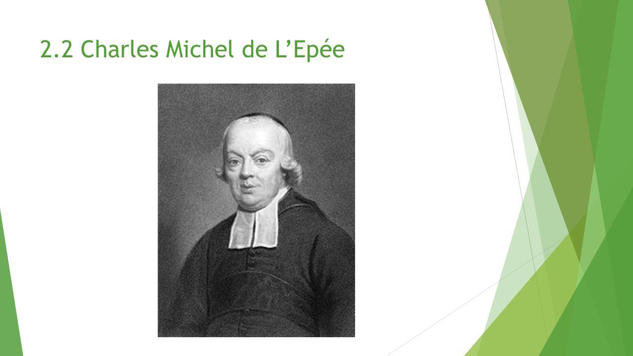 2.2 Charles Michel de L'Epée