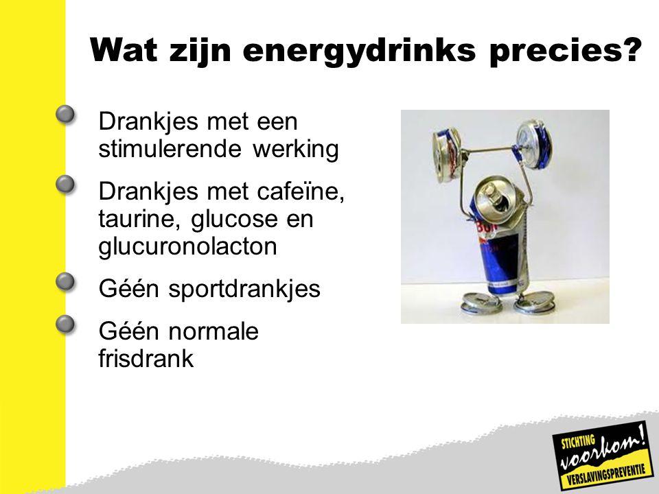 Wat zijn energydrinks precies