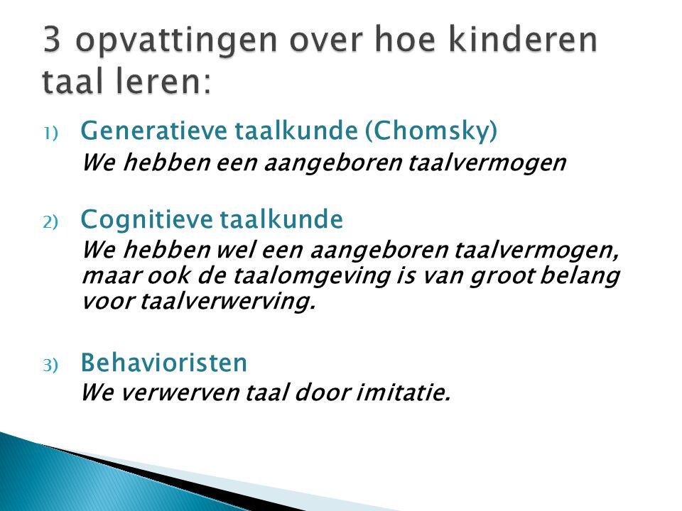 3 opvattingen over hoe kinderen taal leren: