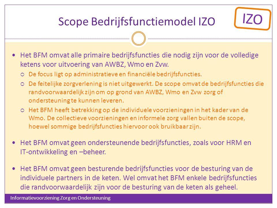 Scope Bedrijfsfunctiemodel IZO
