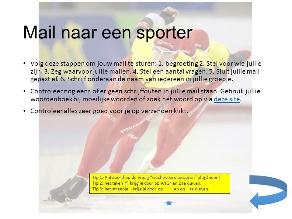 Mail naar een sporter