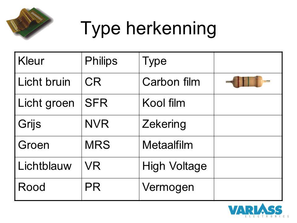 Type herkenning Kleur Philips Type Licht bruin CR Carbon film