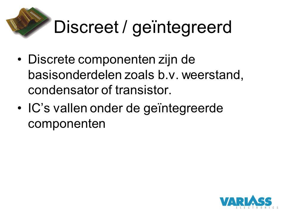 Discreet / geïntegreerd