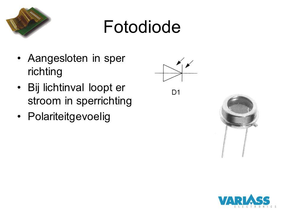 Fotodiode Aangesloten in sper richting