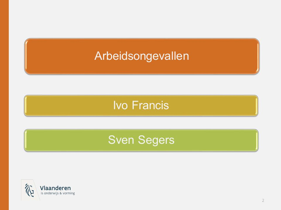 Arbeidsongevallen Ivo Francis Sven Segers