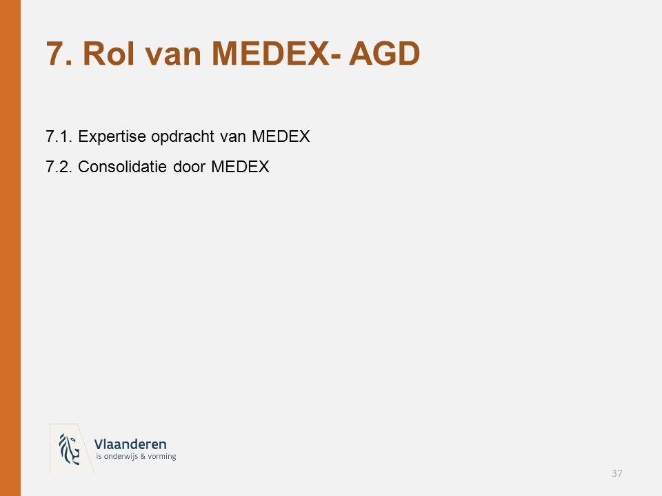 7. Rol van MEDEX- AGD 7.1. Expertise opdracht van MEDEX