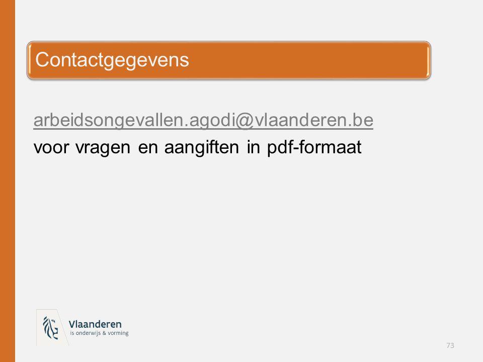 Contactgegevens arbeidsongevallen.agodi@vlaanderen.be
