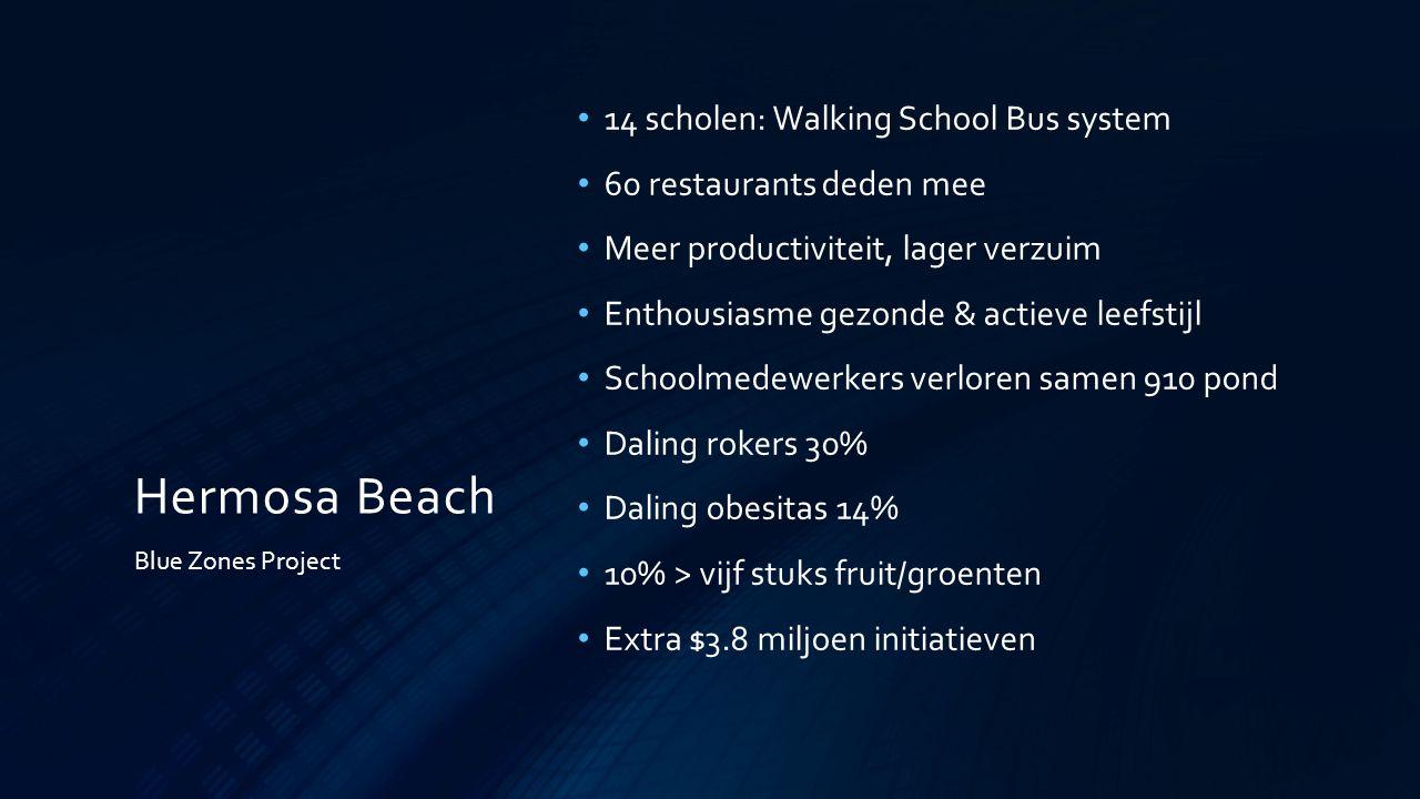 Hermosa Beach 14 scholen: Walking School Bus system