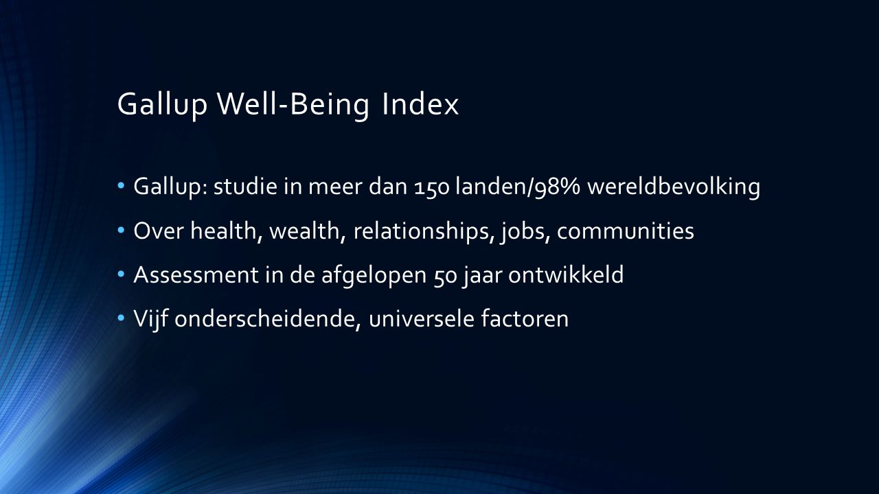 Gallup Well-Being Index