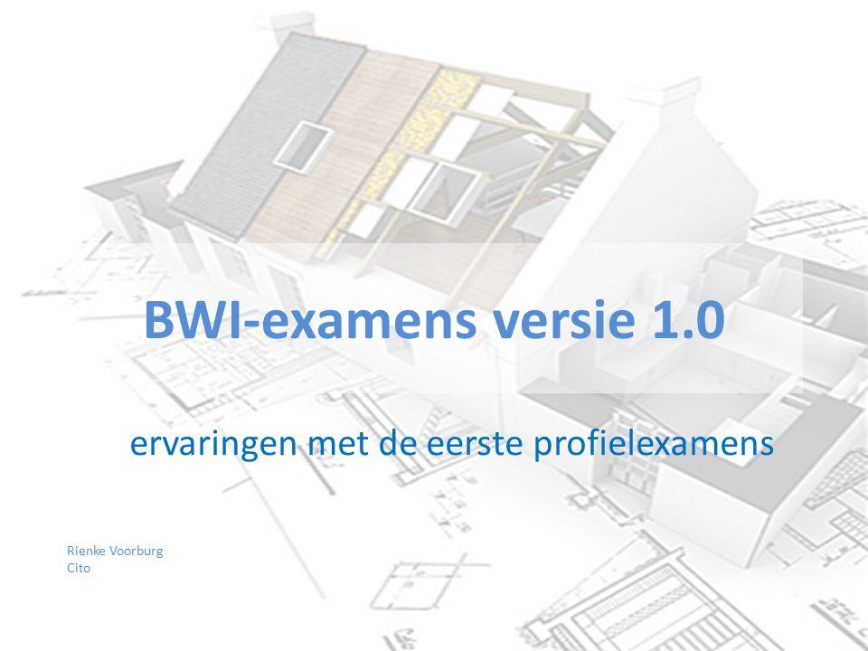 BWI-examens versie 1.0 ervaringen met de eerste profielexamens 1