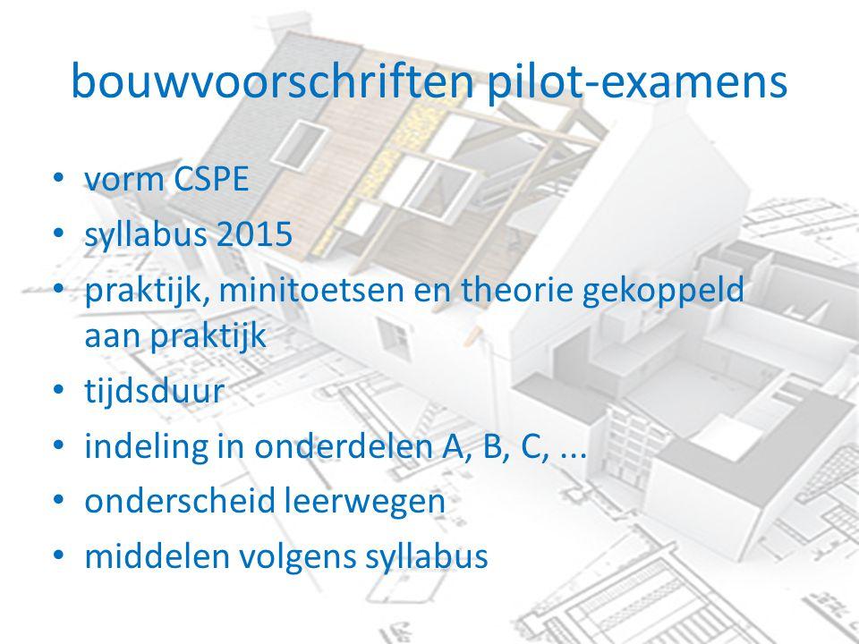bouwvoorschriften pilot-examens