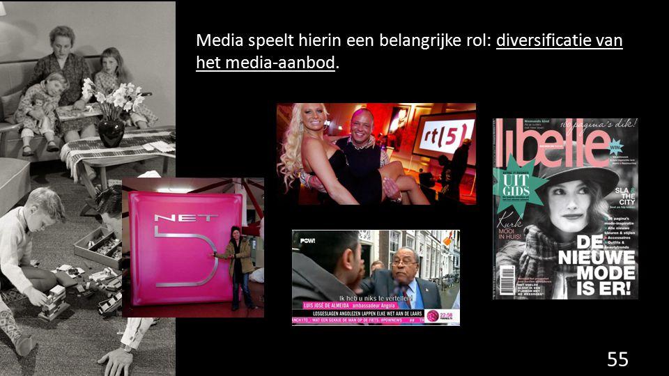 Media speelt hierin een belangrijke rol: diversificatie van het media-aanbod.