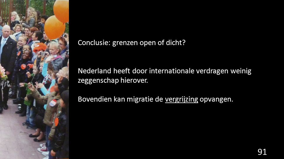 Conclusie: grenzen open of dicht