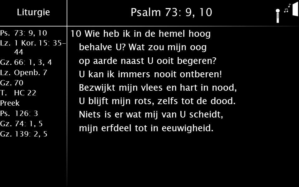 Psalm 73: 9, 10