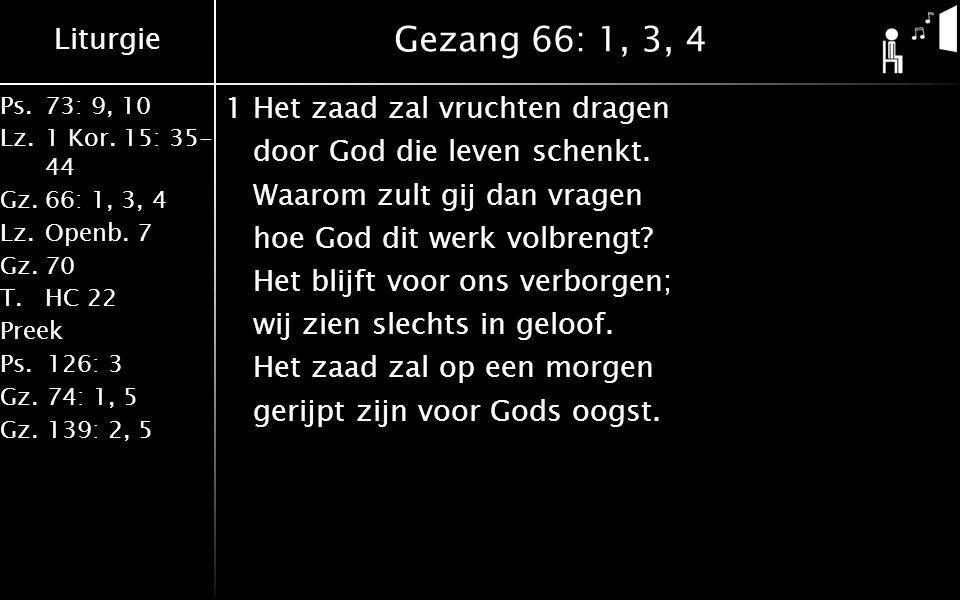Gezang 66: 1, 3, 4
