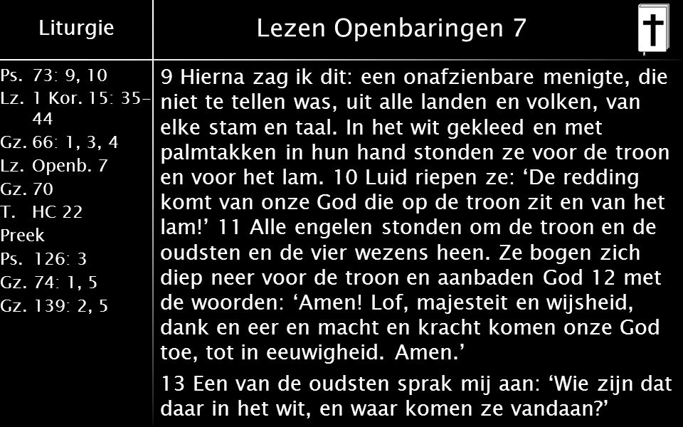 Lezen Openbaringen 7