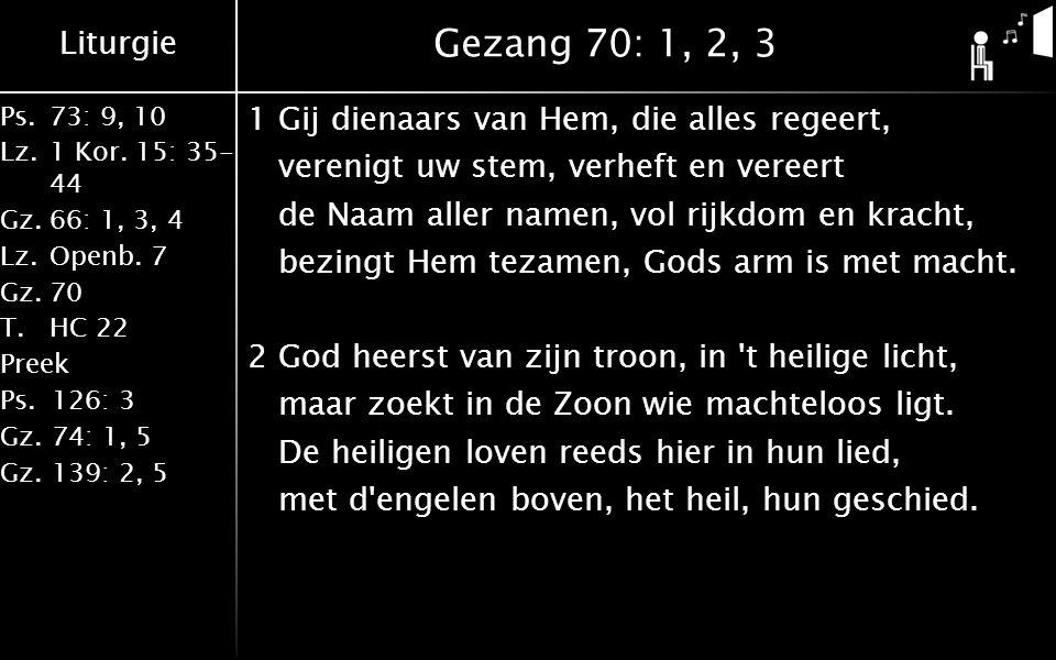 Gezang 70: 1, 2, 3