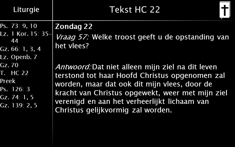 Tekst HC 22
