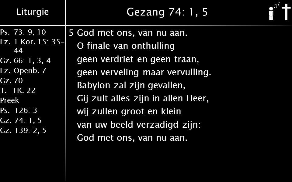 Gezang 74: 1, 5