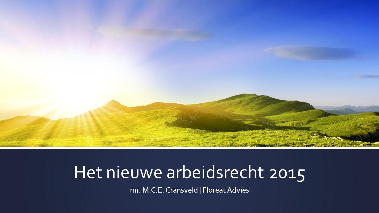 Het nieuwe arbeidsrecht 2015