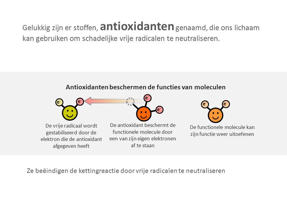 Antioxidanten beschermen de functies van moleculen