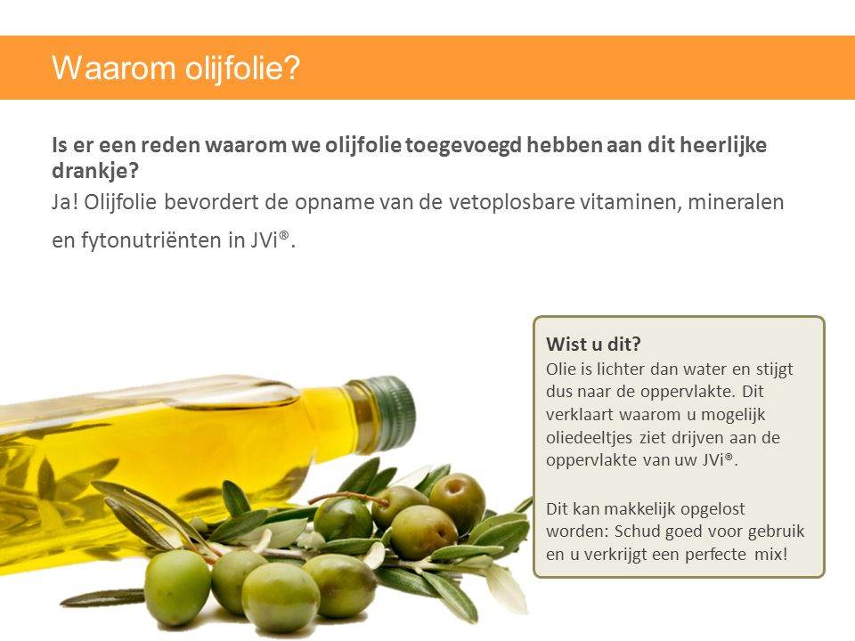 Waarom olijfolie