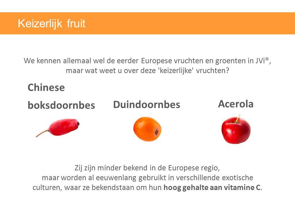 Keizerlijk fruit Chinese boksdoornbes Duindoornbes Acerola