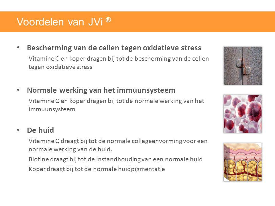 Voordelen van JVi ® Bescherming van de cellen tegen oxidatieve stress