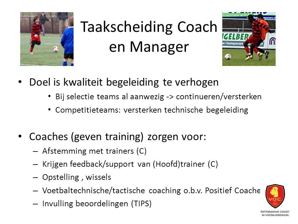 Taakscheiding Coach en Manager