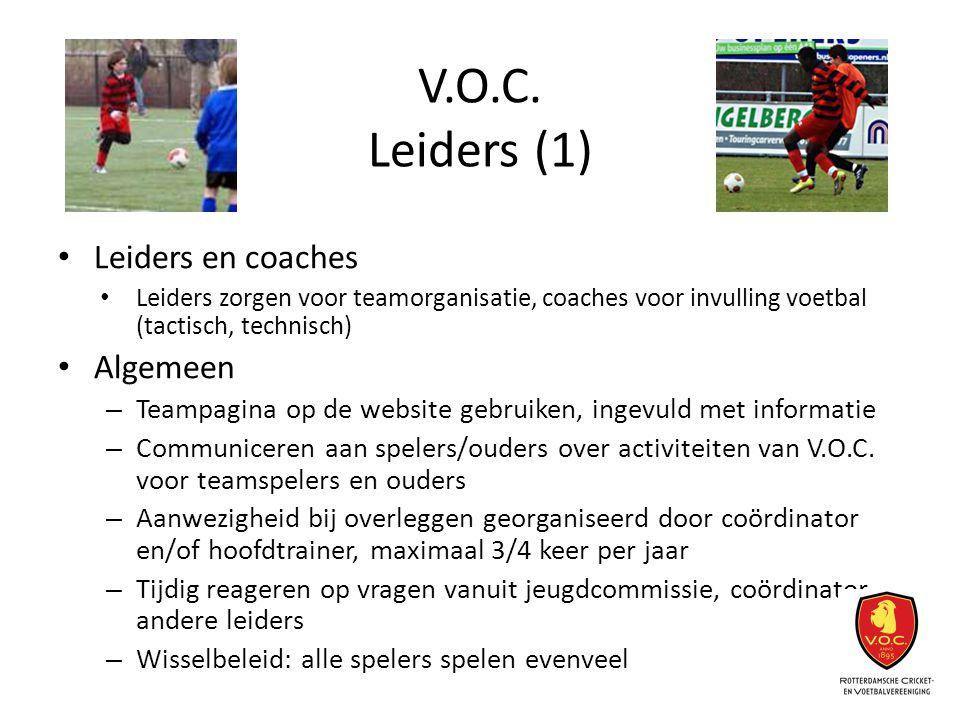 V.O.C. Leiders (1) Leiders en coaches Algemeen