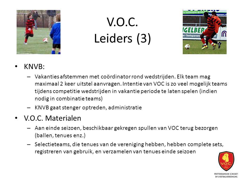 V.O.C. Leiders (3) KNVB: V.O.C. Materialen