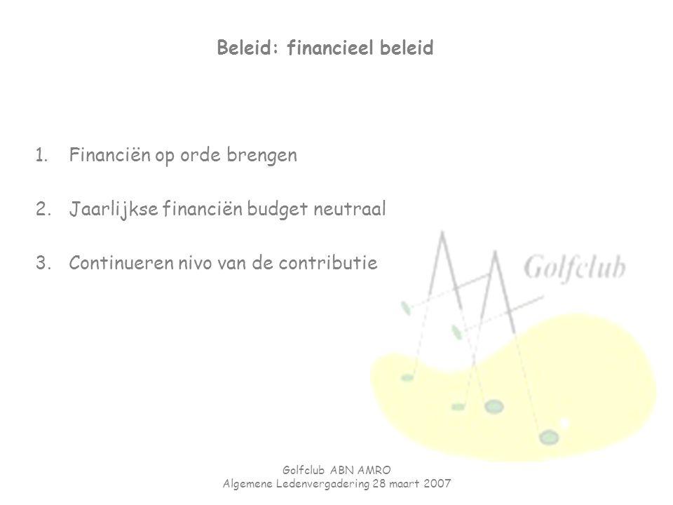 Beleid: financieel beleid