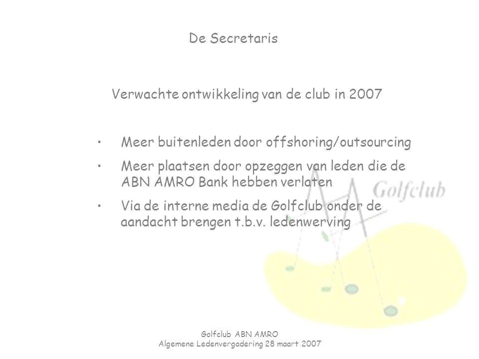 Verwachte ontwikkeling van de club in 2007