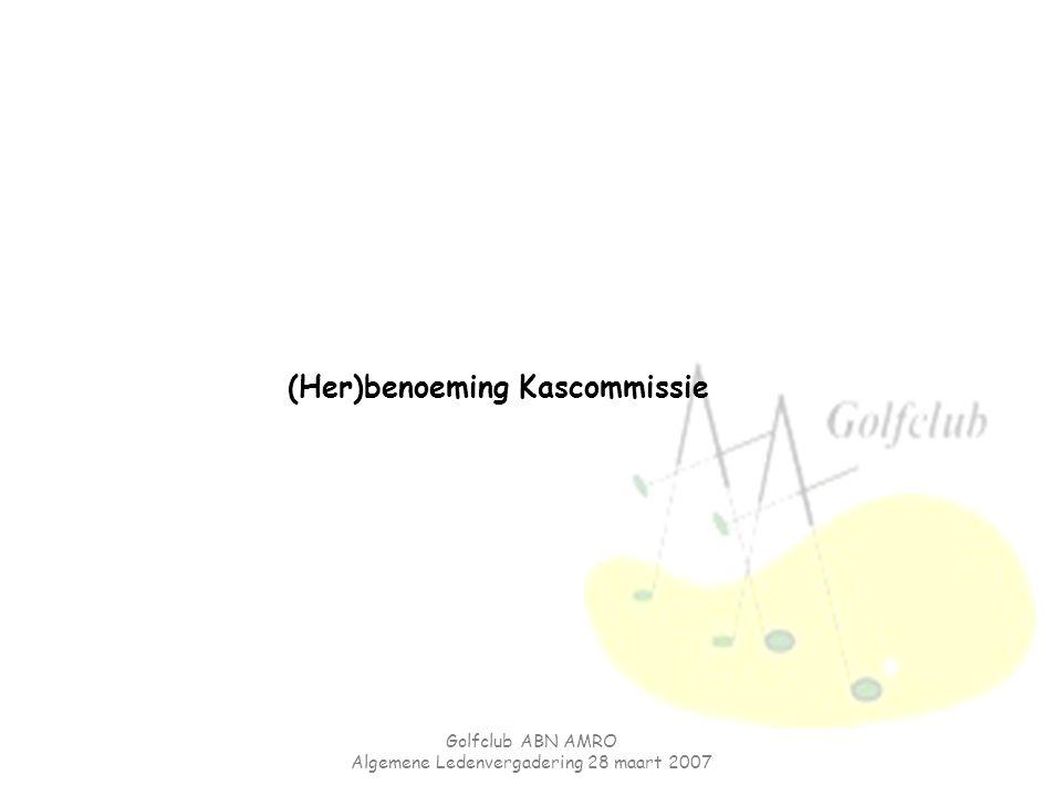 (Her)benoeming Kascommissie