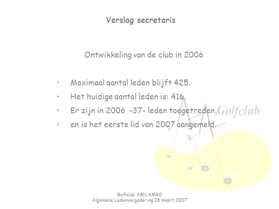 Ontwikkeling van de club in 2006