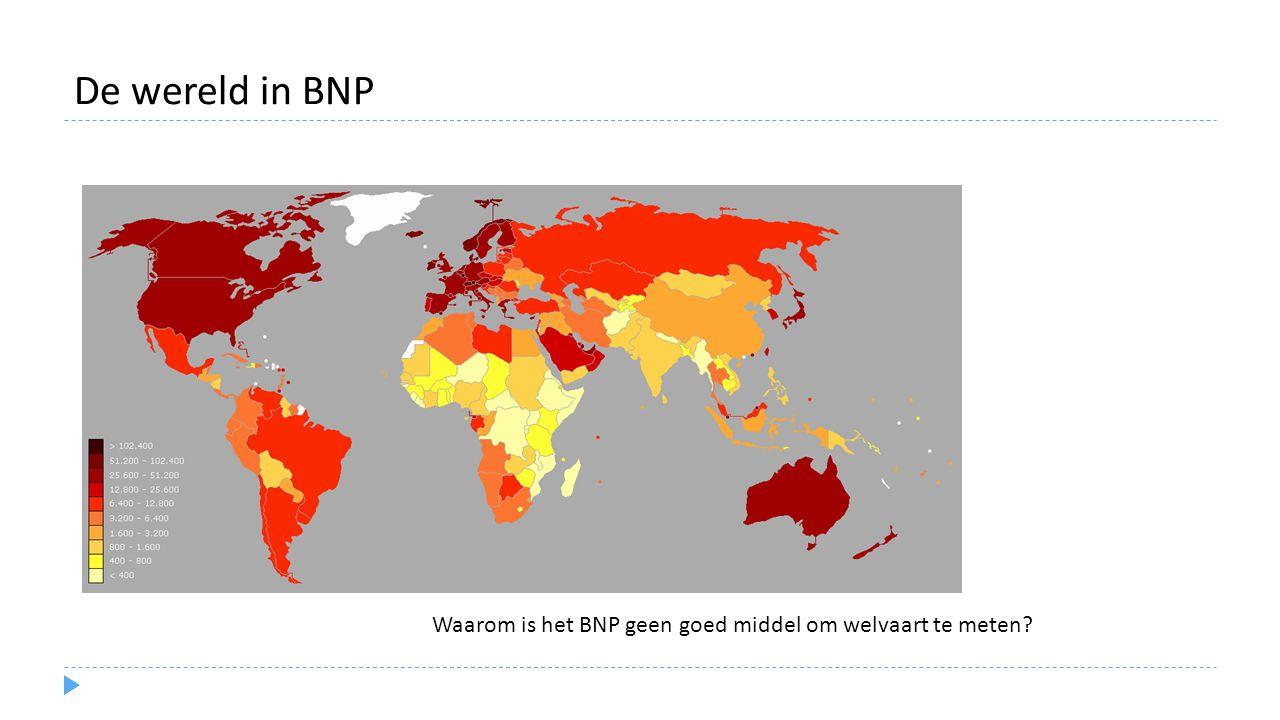 De wereld in BNP Waarom is het BNP geen goed middel om welvaart te meten