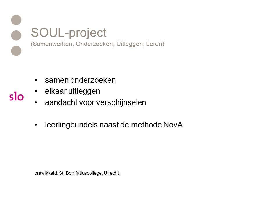 SOUL-project (Samenwerken, Onderzoeken, Uitleggen, Leren)