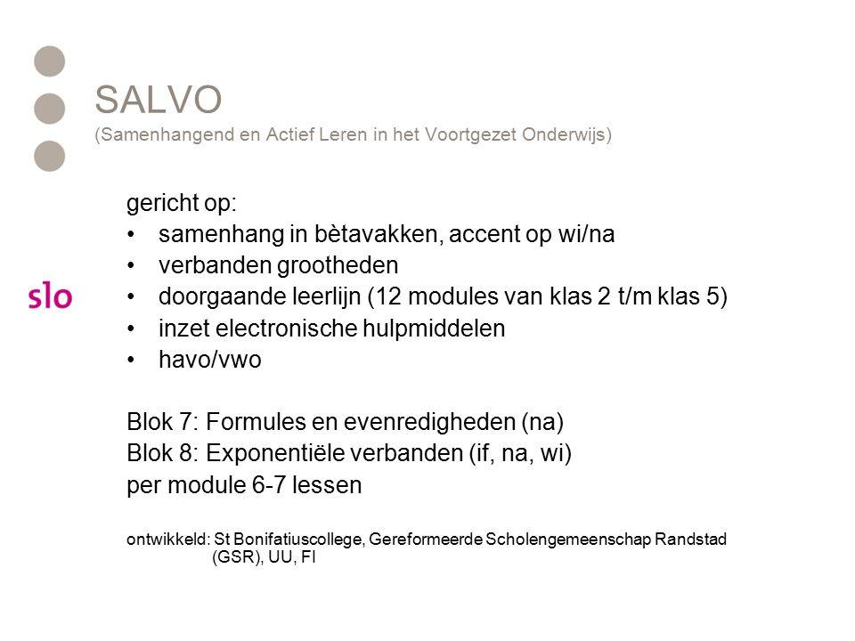 SALVO (Samenhangend en Actief Leren in het Voortgezet Onderwijs)