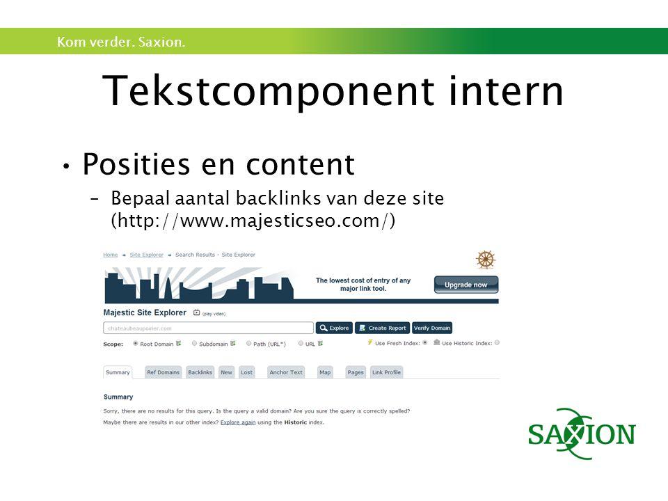 Tekstcomponent intern