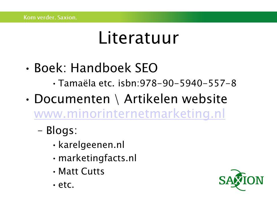 Literatuur Boek: Handboek SEO
