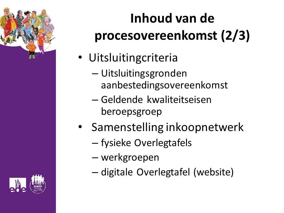 Inhoud van de procesovereenkomst (2/3)