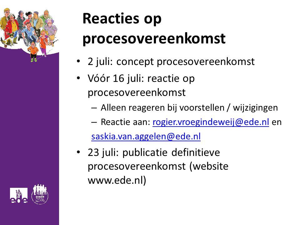 Reacties op procesovereenkomst