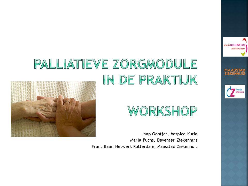 palliatieve zorgmodule in de praktijk Workshop