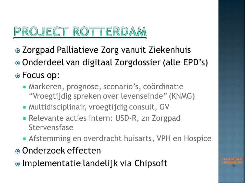Project Rotterdam Zorgpad Palliatieve Zorg vanuit Ziekenhuis